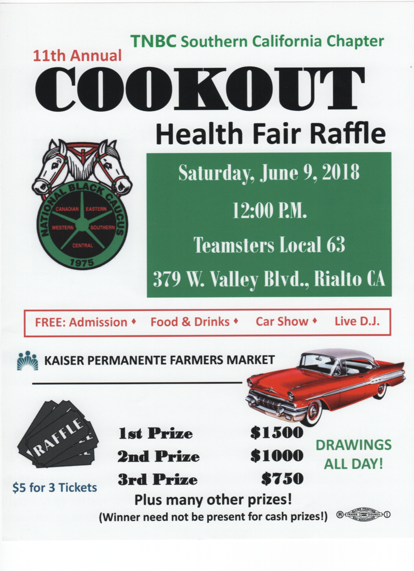 Teamsters National Black Caucus (SoCal) Cookout/Raffle